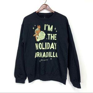 Friends Holiday Armadillo Graphic Sweatshirt Xmas